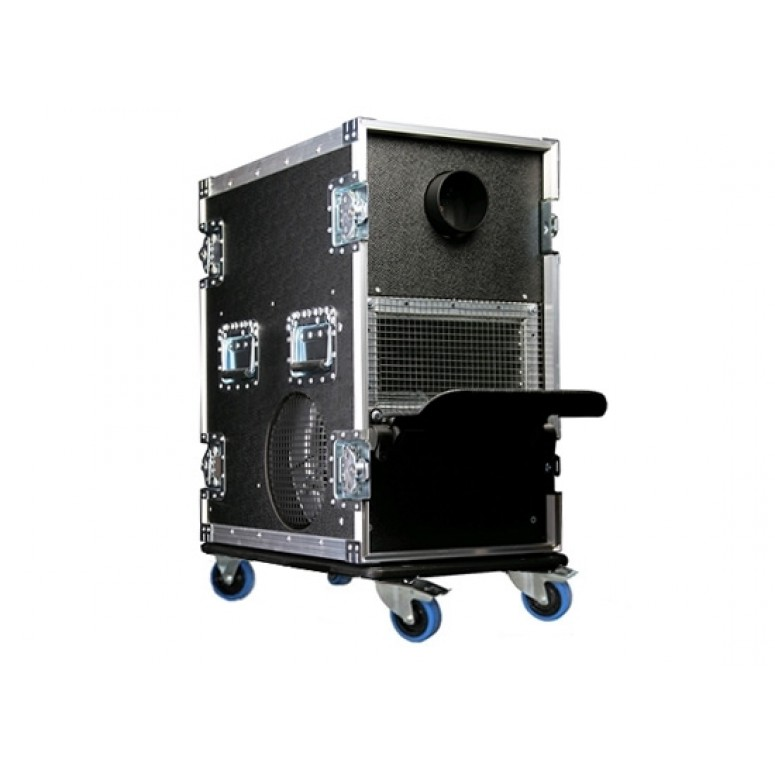 HazeBase - Touring Fog System with Fan - Amptown Cased 2600 Watt 220V Fog Machine with 700 Watt Blower Fan