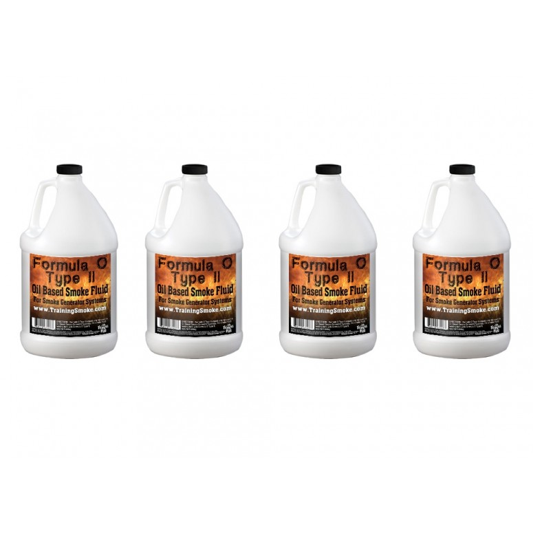 TrainingSmoke - Formula O Type 2 Oil Based Smoke Fluid - 4 Gallon Case