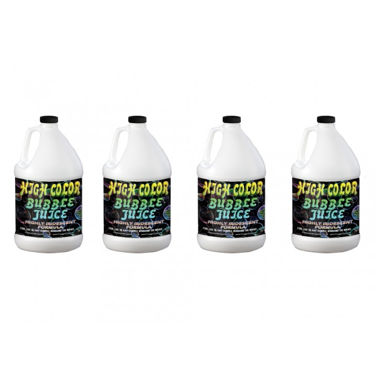 HIGH COLOR Bubble Juice - Strong Long-Lasting Iridescent Brilliant - 4 Gallon Case