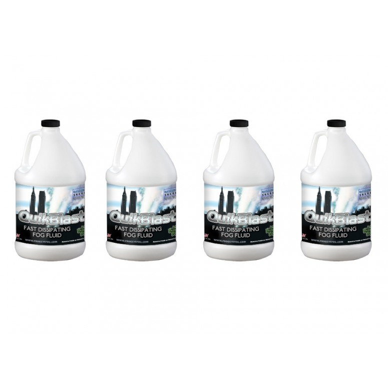 Quikblast® Fog Juice - CO2 Blast Effect Fog Machine Fluid - Best for Chauvet® DJ Geysers - 4 Gallon Case