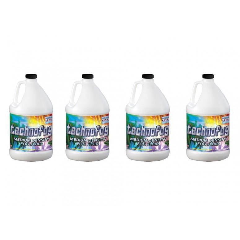 Techno Fog® - DJ and Club Mix - Medium Density Fog Machine Fluid - 4 x 1 Gallon Case Fog Juice