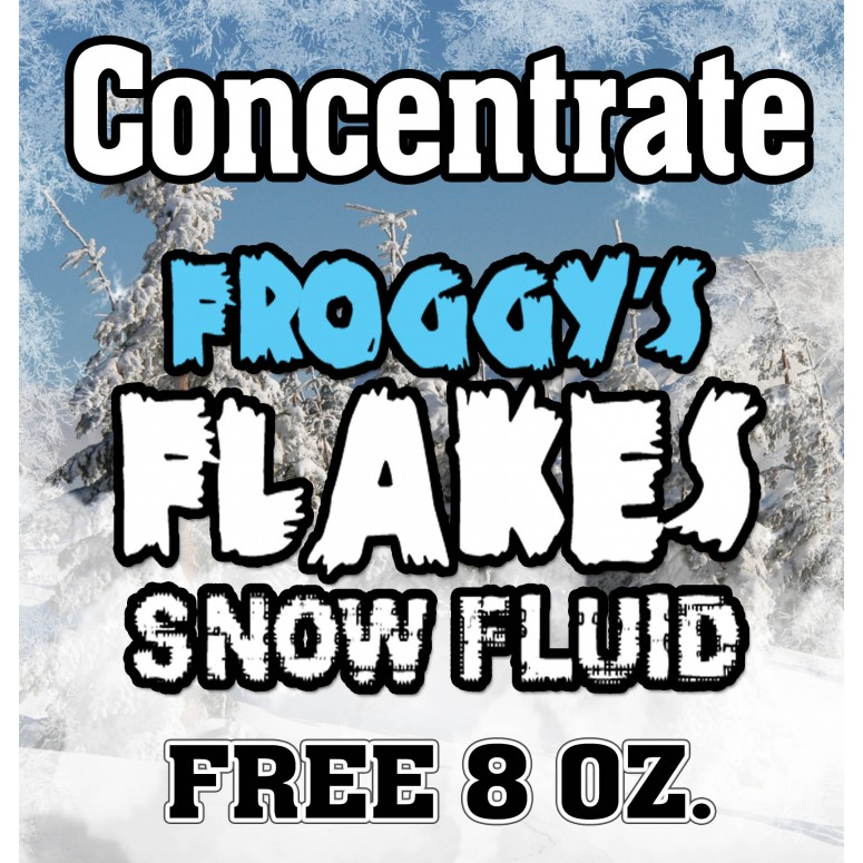Free 8 oz Bottle of snow concentrate included with rental of snow machine-Dry