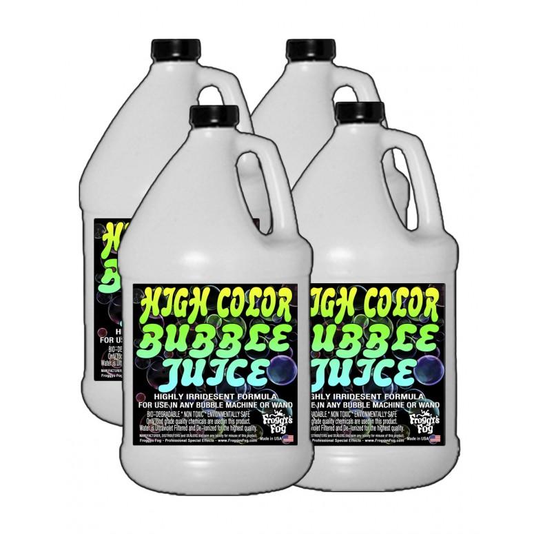 HIGH COLOR Bubble Juice - Strong Long-Lasting Iridescent Brilliant - 4 Gallon Case