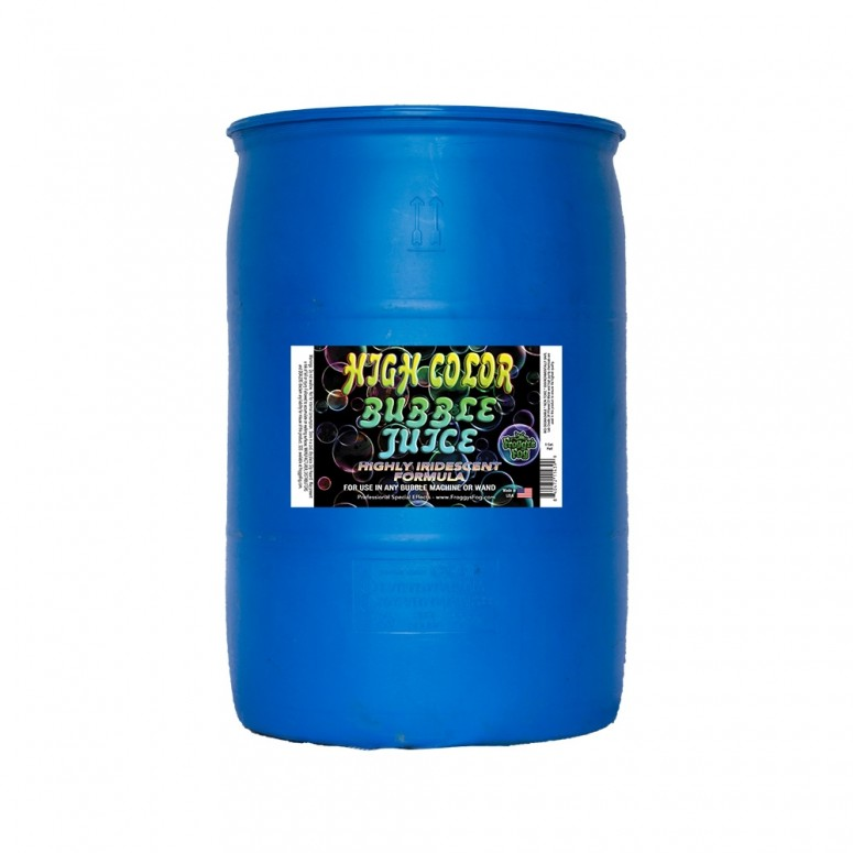 Iridescent Strong Froggys Fog Long-Lasting 4 Gallon Case High Color Bubble Juice Brilliant for All Bubble Machines and Bubblers