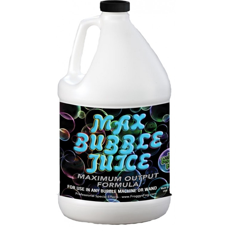 MAX Bubble Fluid - 10x the Bubbles from Ordinary Machines - 1 Gallon
