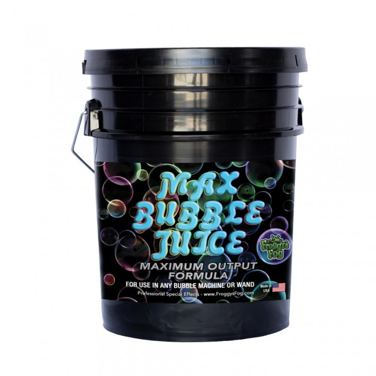MAX Bubble Fluid - 10x the Bubbles from Ordinary Machines - 5 Gallons