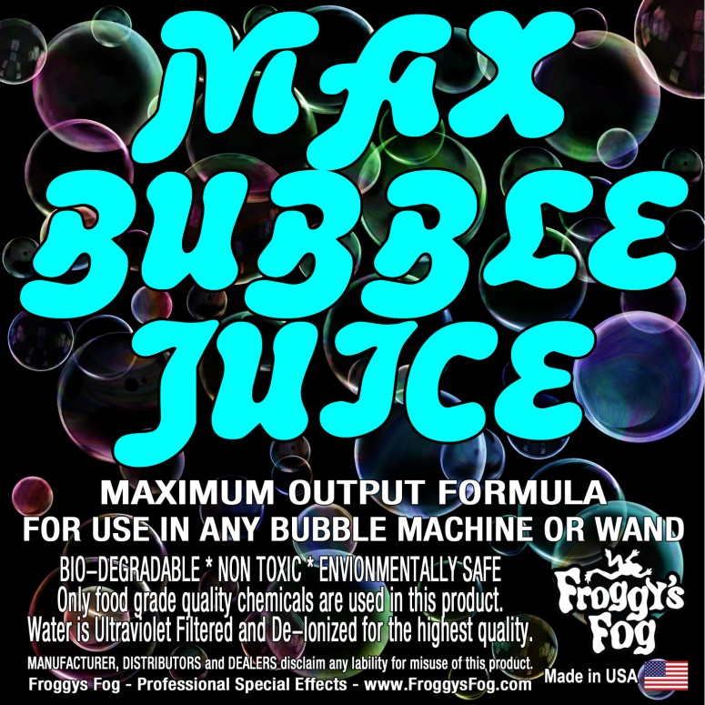 MAX Bubble Fluid - 10x the Bubbles from Ordinary Machines - 55 Gallons
