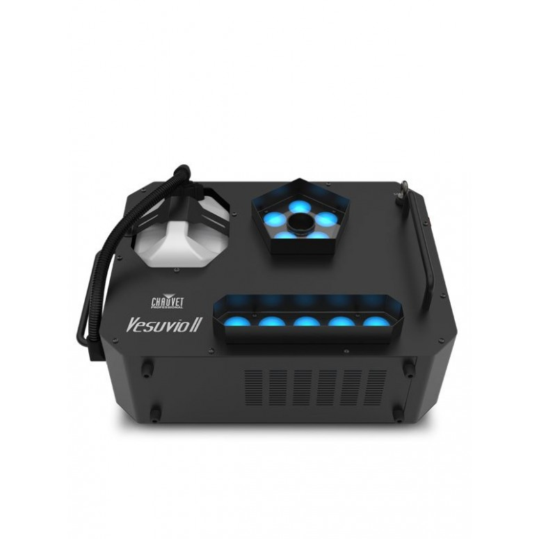 Chauvet® Professional Vesuvio II RGBA +UV - Quick Bursting Fog Machine with High Output LEDs -  Top