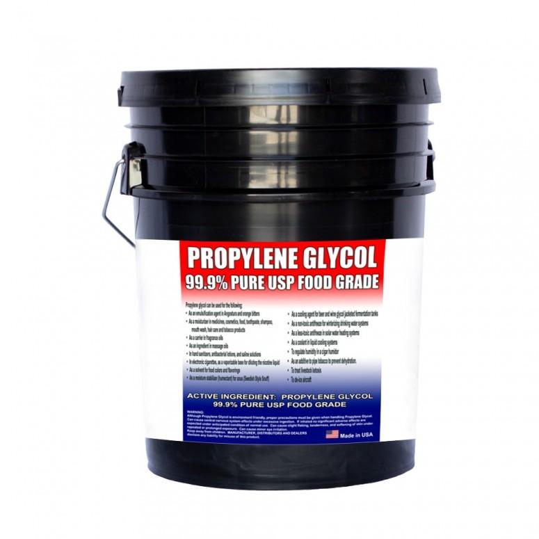 Kosher Propylene Glycol >=99.9% - Food Grade USP - 5 Gallon Pail