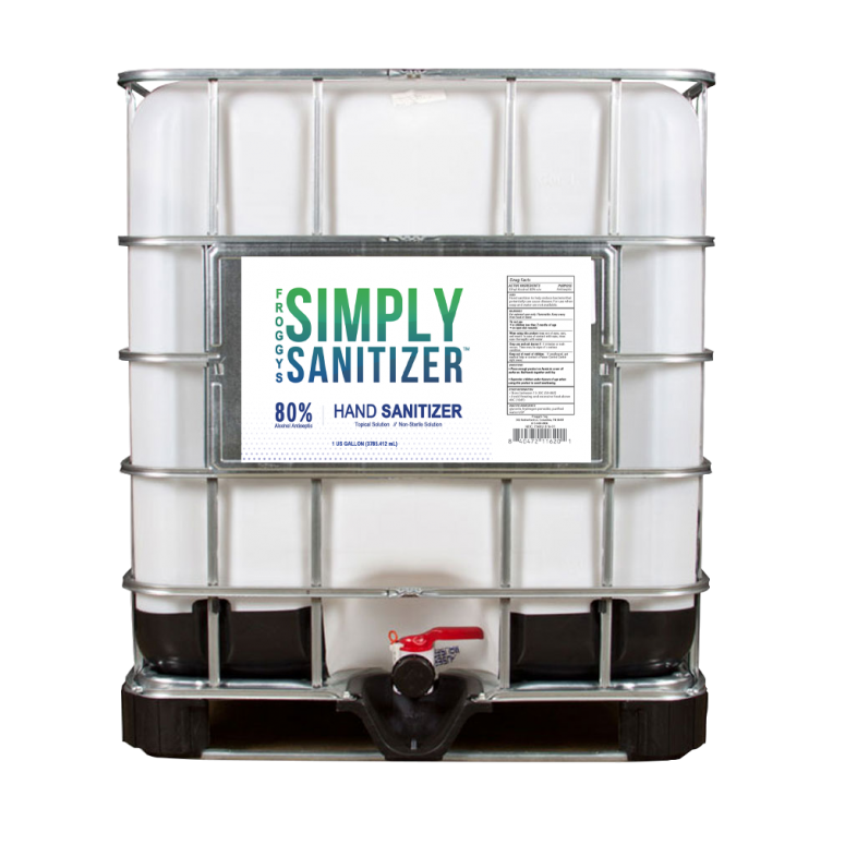 Hand Sanitizer 250 Gallon Tote - Froggy's Simply Sanitizer Liquid Hand Rub