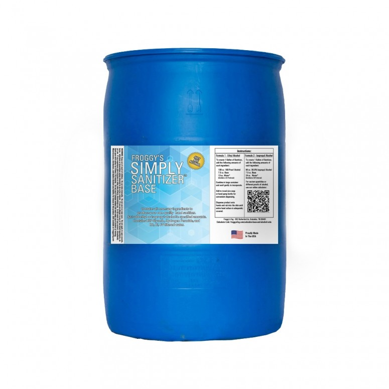 50 Gallon Drum - Froggy's Simply Sanitizer™ Base - Requires Mixing