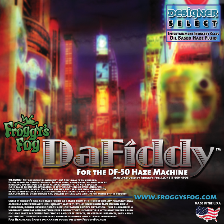 DaFiddy - Oil Based and Oil-Less Haze Juice Fluid for DF-50 Machine