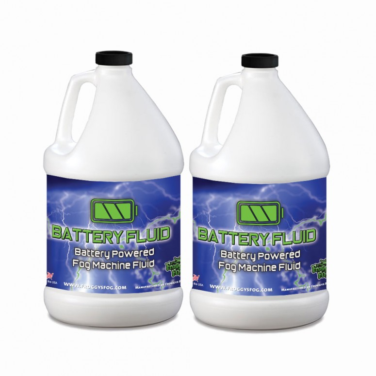 2 x 1 Gallons - Battery Fog Fluid - High Concentration Formula - Hazebase, Look Solutions, Smoke Factory & Antari Battery Powered Fog Machines