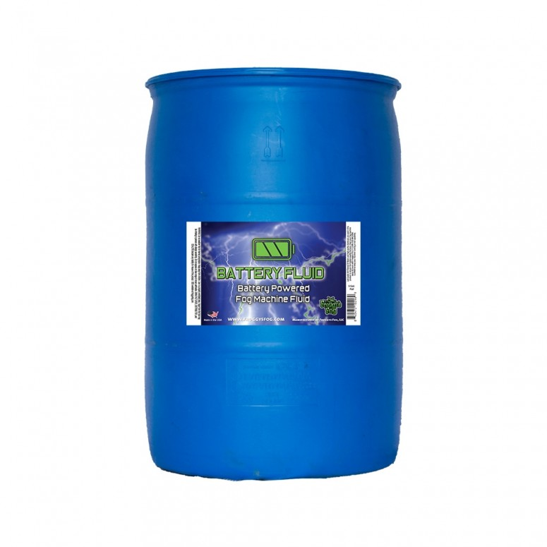 55 Gallon Drum - Battery Fog Fluid - High Concentration Formula - Hazebase, Look Solutions, Smoke Factory & Antari Battery Powered Fog Machines