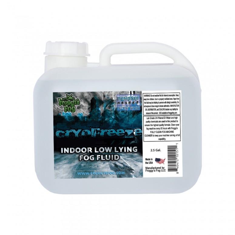 Cryo Freeze - Low Lying Ground Fog Machine Fluid - Stage and Studio Fog Juice - 2.5 Gallon Square