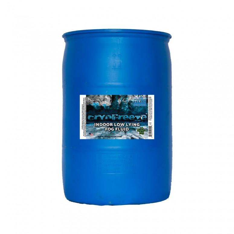 Cryo Freeze - Low Lying Ground Fog Machine Fluid - Stage and Studio Fog Juice - 55 Gallon Drum