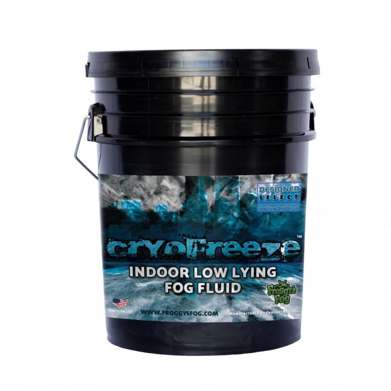 Cryo Freeze - Low Lying Ground Fog Machine Fluid - Stage and Studio Fog Juice - 5 Gallon Pail