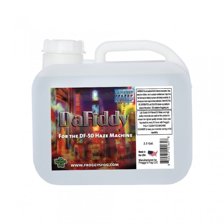 DaFiddy - Oil-Based Haze Juice Fluid for DF-50 Machine - 2.5 Gallon Square