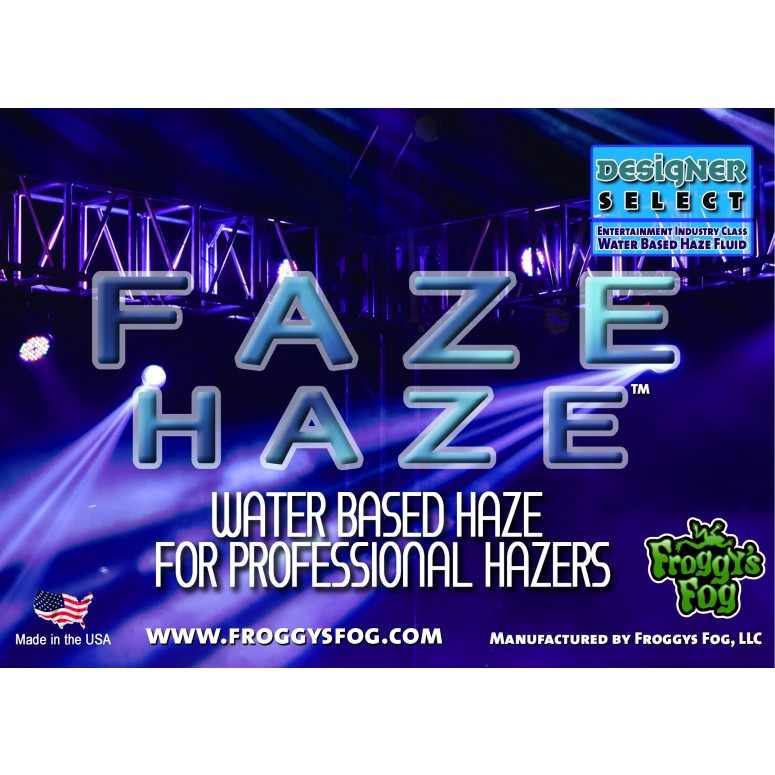 Faze Haze - Professional Water Based Haze Juice - For Antari F-1, F-5, F-7, Chauvet Professional AMHAZE 2 and Martin Compact Hazers