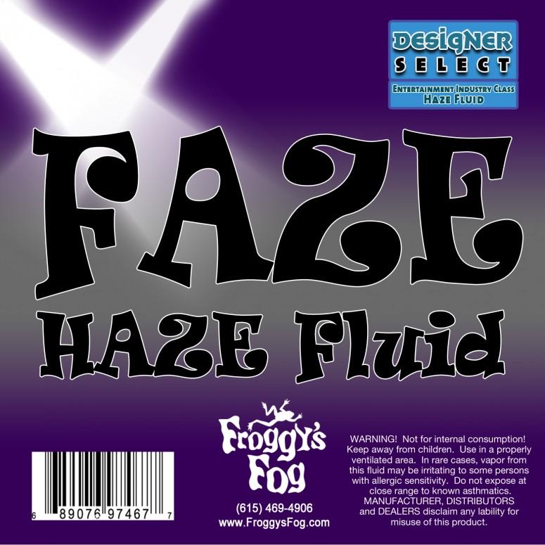 Faze Haze - Professional Water Based Haze Juice - For Antari F-1, F-5, F-7, Chauvet Professional AMHAZE 2 and Martin Compact Hazers