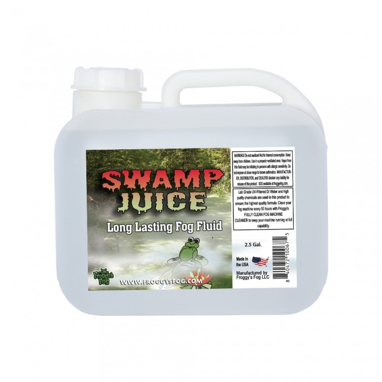 Froggy's Fog - Swamp Juice (Extreme Hang Time Longest Lasting Fog Fluid) - Fog Juice - 2.5 Gallon Square