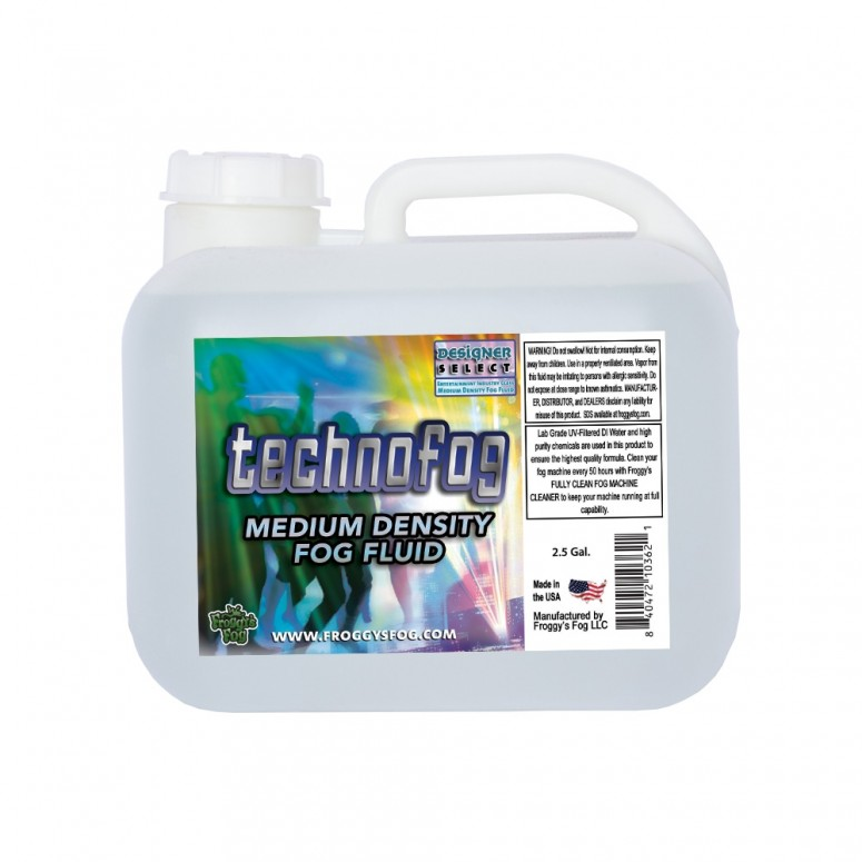 Techno Fog® - DJ and Club Mix - Medium Density Fog Machine Fluid - 2.5 Gallon Square Fog Juice
