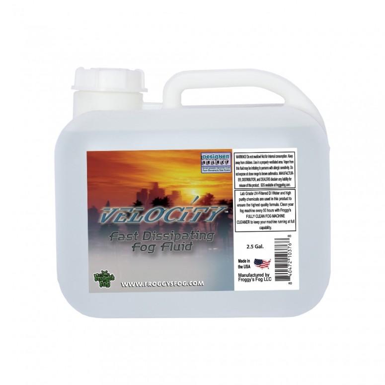 Velocity™ - Fast Dissipating Fog Machine Fluid - 2.5 Gallon Square Fog Juice