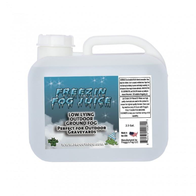Freezin Fog - Outdoor / Graveyard Low Lying Ground Fog Machine Fluid - Fog Juice - 2.5 Gallon Square