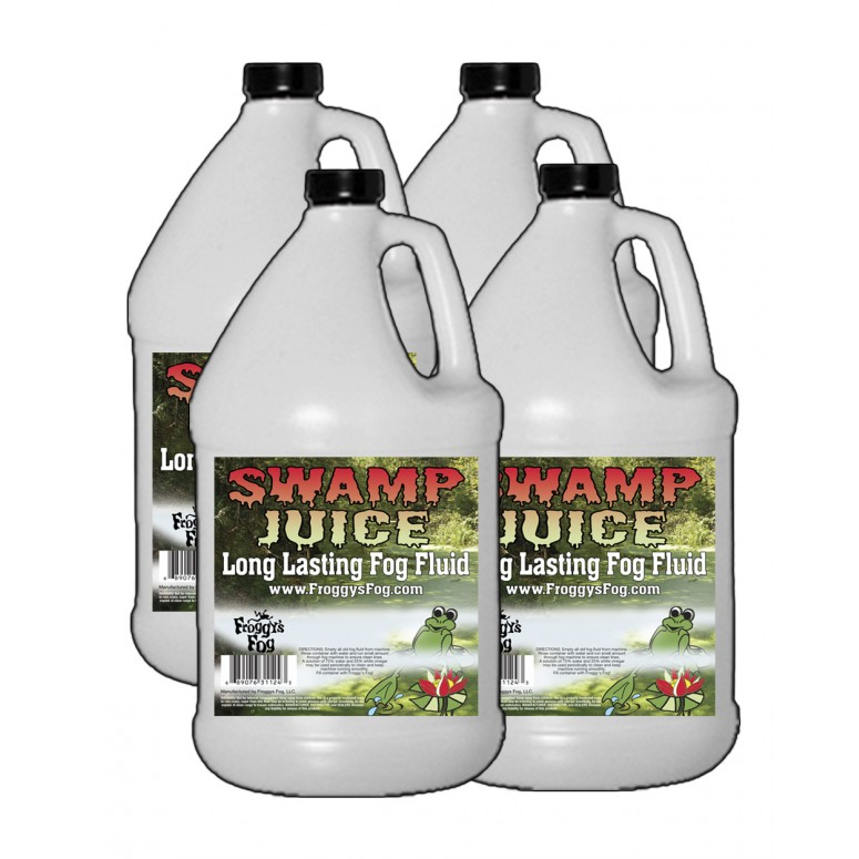 Froggy's Fog - Swamp Juice (Extreme Hang Time Longest Lasting Fog Fluid) - 4 Gallon Case