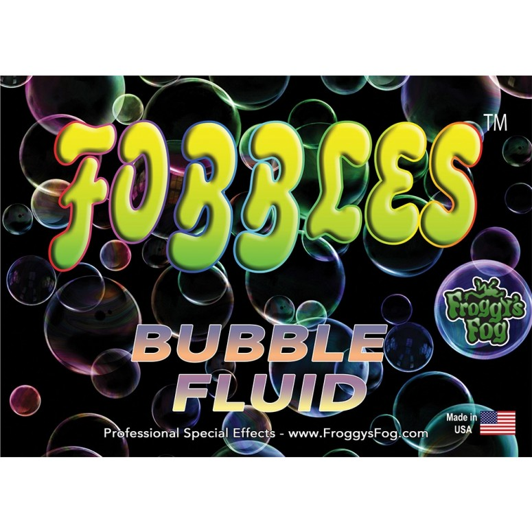 Fobbles Bubble Fluid - Designed for use in the Fobbles Machine