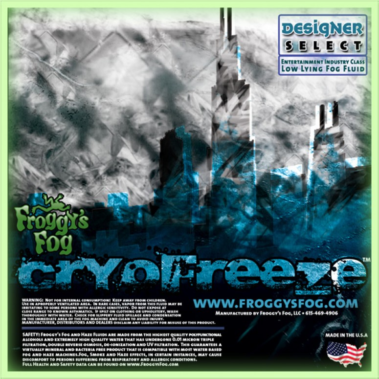 Cryo Freeze - Low Lying Ground Fog Machine Fluid - Stage and Studio Fog Juice