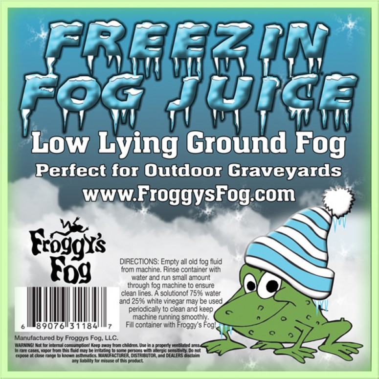 Freezin Fog - Outdoor / Graveyard Low Lying Ground Fog Machine Fluid