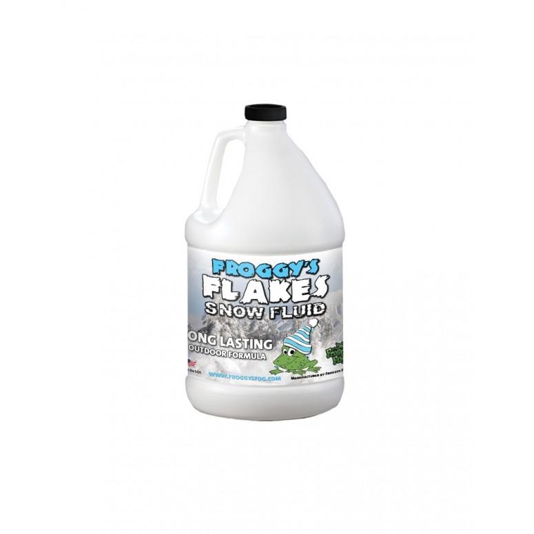 1 Gallon - LONG LASTING Snow Juice Machine Fluid - Froggys Flakes (75 Foot Plus Float / Drop) Slow Evaporation Formula