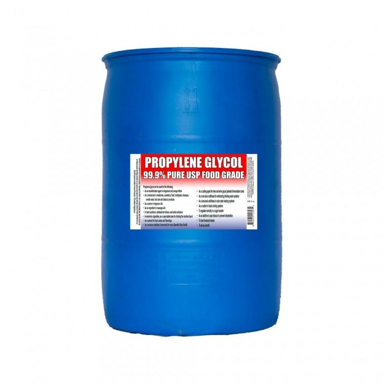 Kosher Propylene Glycol >=99.9% - Food Grade USP - 55 Gallon DRUM
