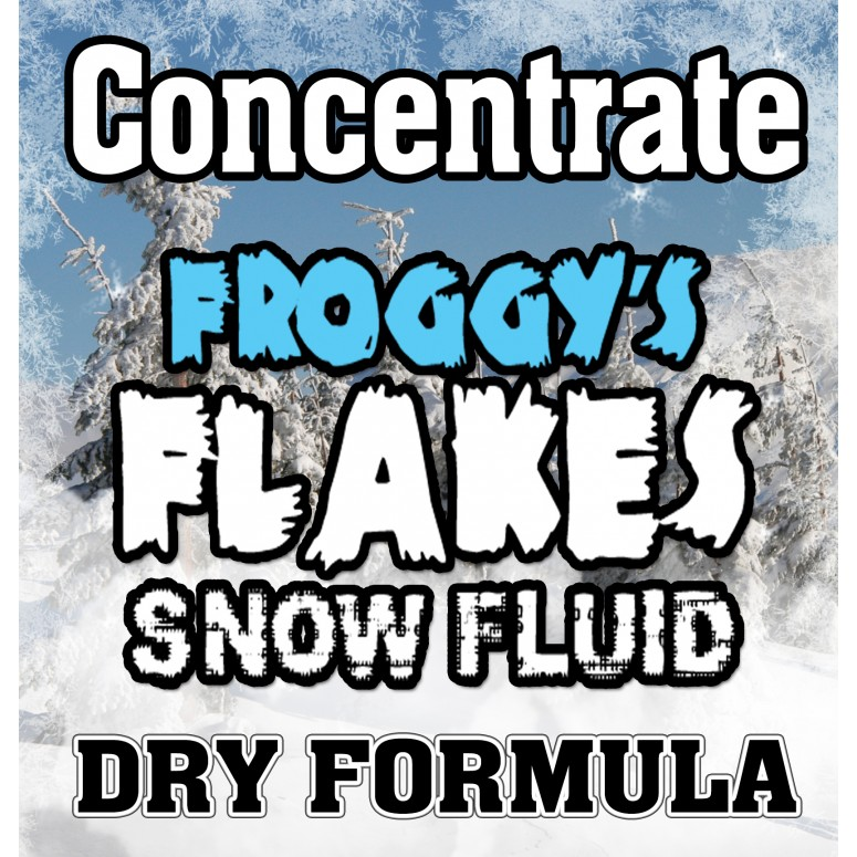 DRY Snow Juice Concentrate (Makes 4 Gallons) - (50-75 Feet Float / Drop) - 4 X 8 oz. Bottle