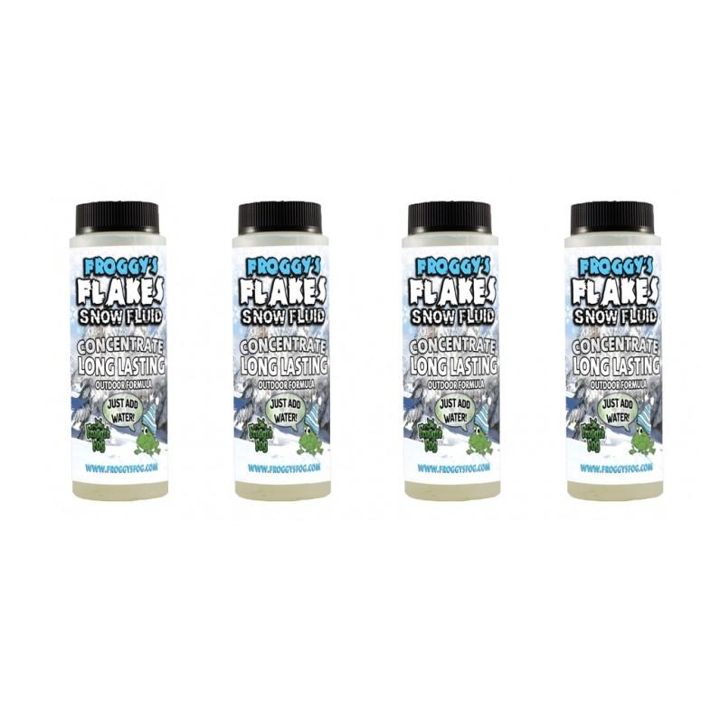LONG LASTING Snow Juice Concentrate (Makes 4 Gallons) - (50-75 Feet Float / Drop) - 4 x 8 oz. Bottle