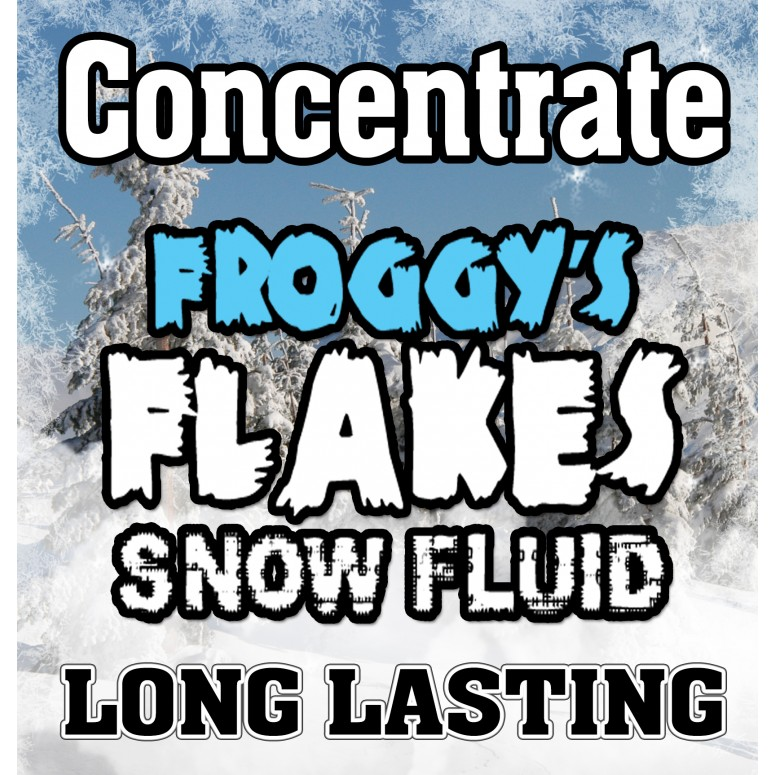 LONG LASTING Snow Juice Concentrate (Makes 4 Gallons) - (50-75 Feet Float / Drop) - 4 x 8 oz. Bottle