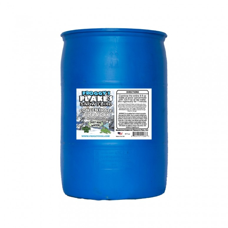 ULTRA DRY Snow Juice Concentrate (Makes 880 Gallons) - (30-50 Feet Float / Drop) - 55 Gallon Drum