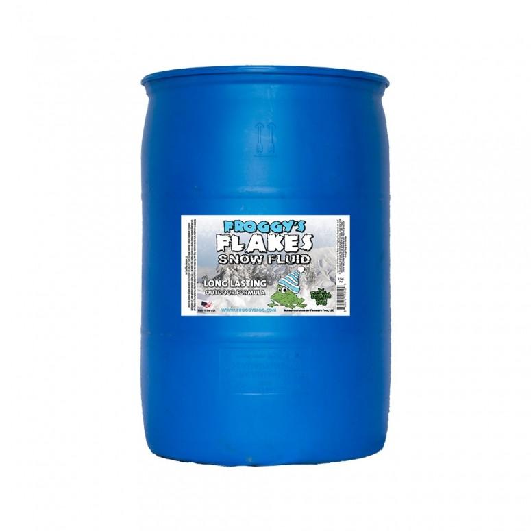 55 Gallon Drum - LONG LASTING Snow Juice Machine Fluid - Froggys Flakes (75 Foot Plus Float / Drop) Slow Evaporation Formula