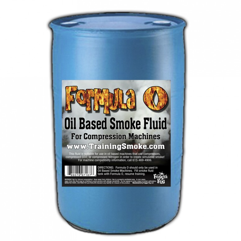 TrainingSmoke - Formula O Oil Based Smoke Fluid - 55 Gallon Drum