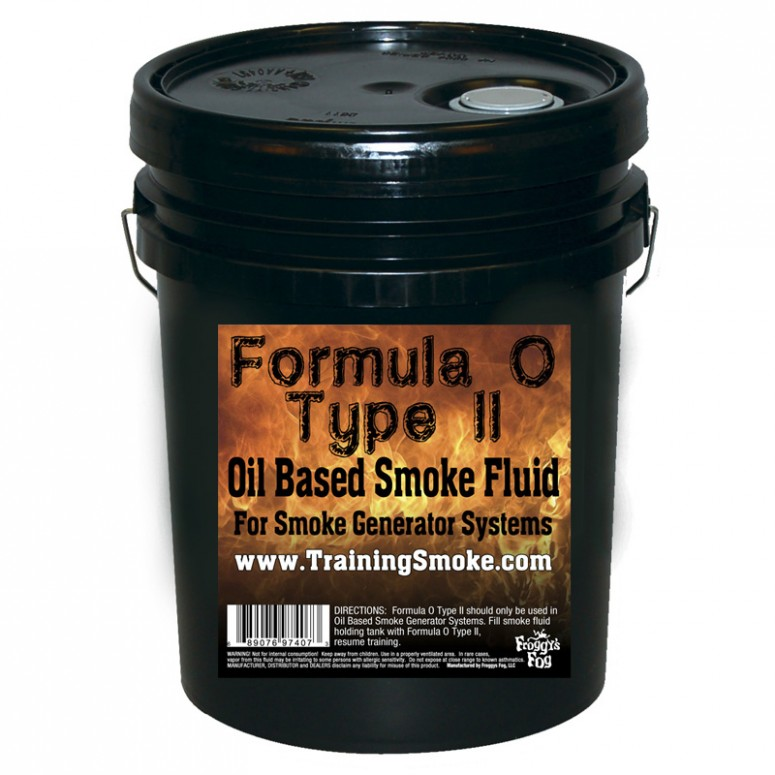 TrainingSmoke - Formula O Type 2 Oil Based Smoke Fluid - 5 Gallon Pail