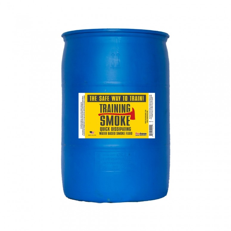 Training Smoke Q - Water Based, Quick Dissipating Smoke Fluid - 55 Gallon Drum