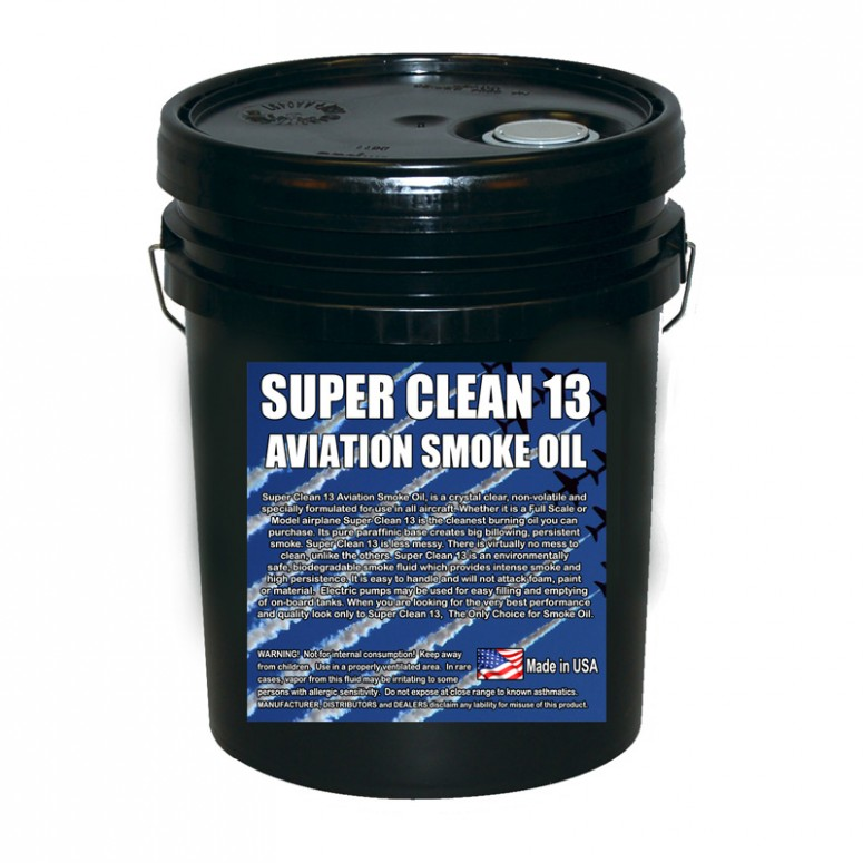 Super*Clean 13 Aviation Smoke Oil - Exact Spec Match to: Texaco Canopus 13 and Shell Vitrea 13 - 5 Gallon Pail