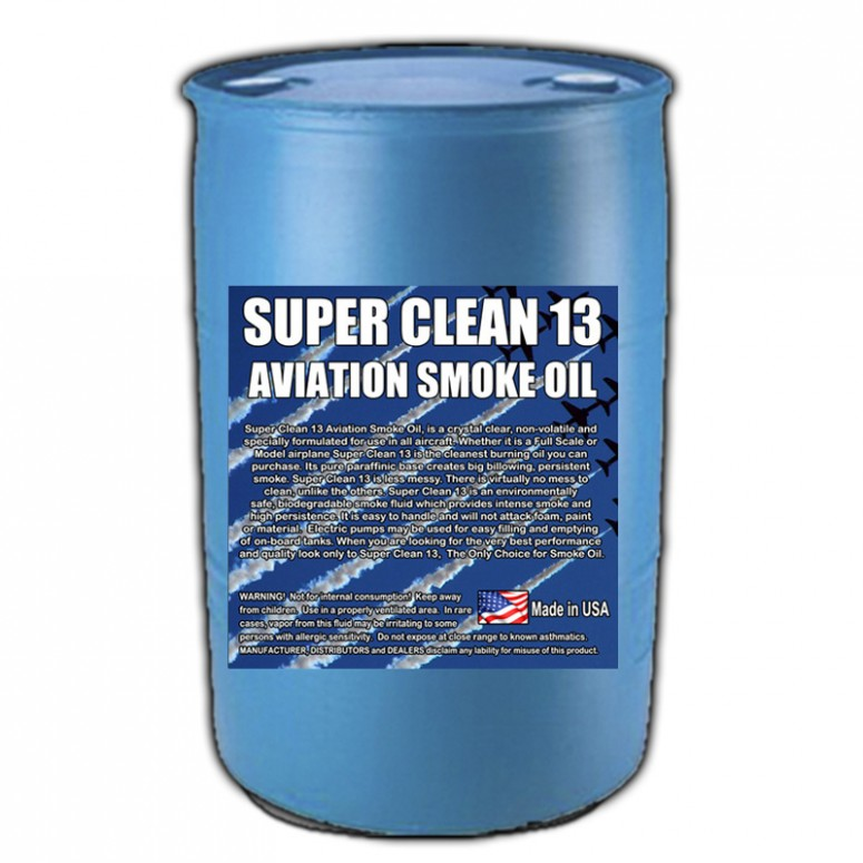 Super*Clean 13 Aviation Smoke Oil - Exact Spec Match to: Texaco Canopus 13 and Shell Vitrea 13 - 55 Gallon Drum