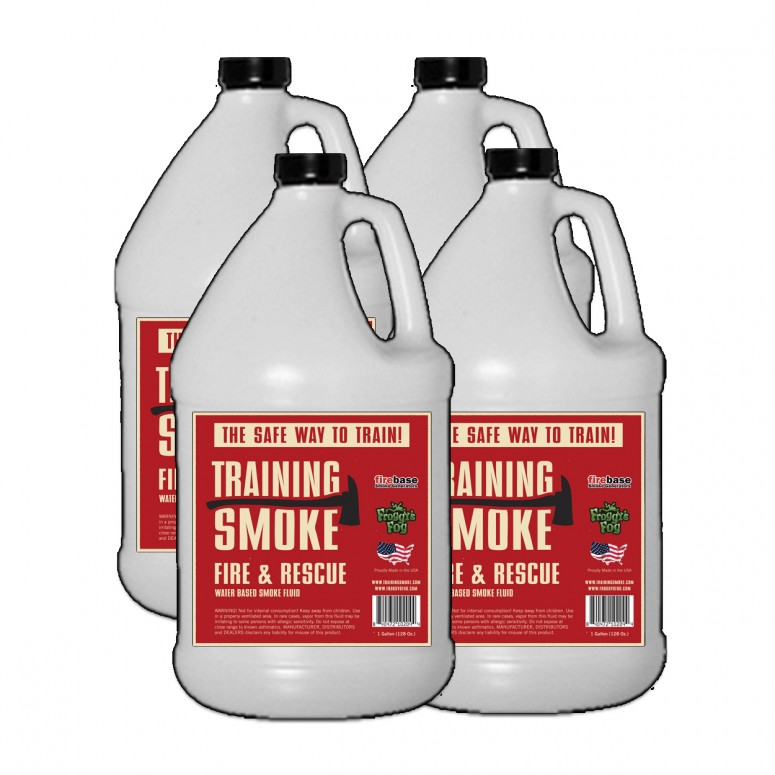 Training Smoke - Fire & Rescue Fog - Long Hang Time, Water Based - 4 Gallon Case