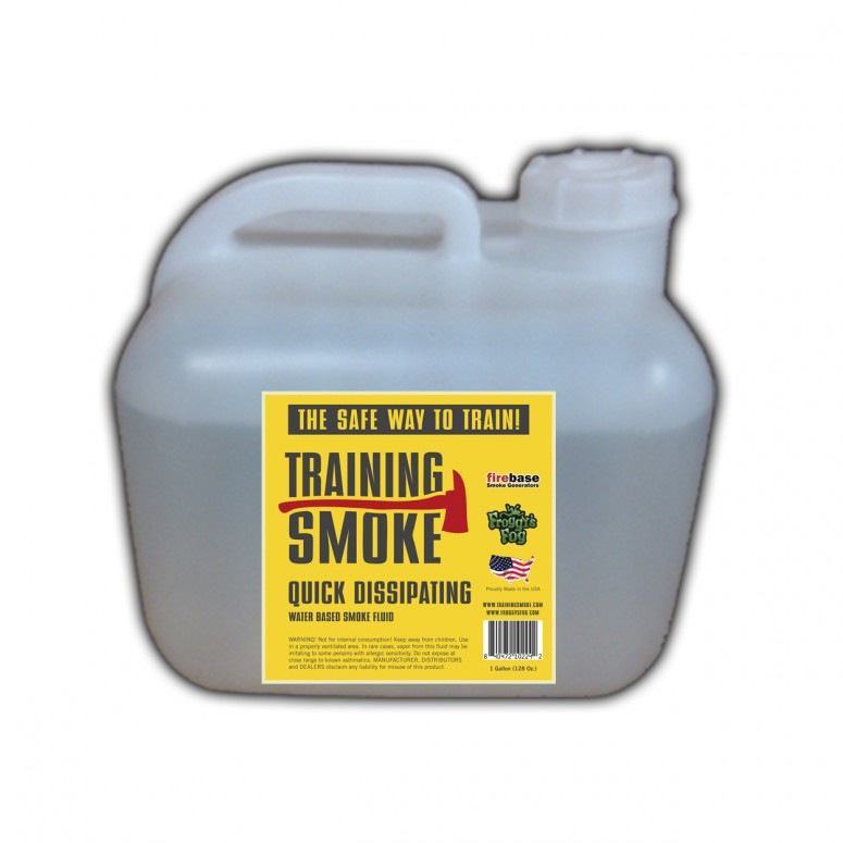 Training Smoke Q - Water Based, Quick Dissipating Smoke Fluid - 2.5 Gallon Square