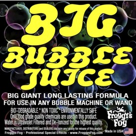 BIG Bubble Juice - Enormous Long-Lasting Bubble Fluid -