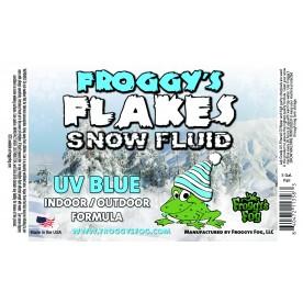 BLUE UV BLACKLIGHT REACTIVE Snow Juice Machine Fluid - Froggys Flakes - Evaporative Formula