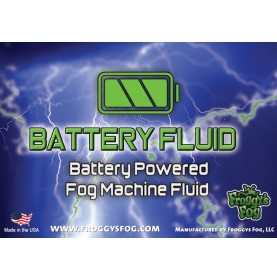 Battery Fog Fluid - High Concentration Formula - Hazebase, Look Solutions, Smoke Factory & Antari Battery Powered Fog Machines - Label