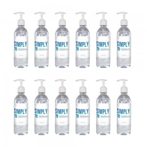 12 X 16oz - Froggy's Simply Sanitizer™ Gel with Included Pump Top
